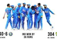 इंडिया ने ऑस्ट्रेलिया को 36 रनों से हराकर हिसाब बराबर किया