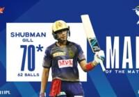 आईपीएल 2020 के 8वें मैच में कोलकाता नाइट राइडर्स ने सनराइजर्स हैदराबाद को 7 विकेट से हराया