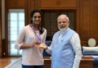 प्रधानमंत्री नरेंद्र मोदी से मिली वर्ल्ड चैंपियन पीवी सिंधु