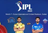 IPL2020 के सातवें मैच में चेन्नई सुपर किंग्स का सामना आज दिल्ली कैपिटल्स से होगा