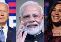 प्रधानमंत्री मोदी ने अमेरिकी राष्ट्रपति और उप राष्ट्रपति का चुनाव जीतने पर जो बाइडेन और कमला हैरिस को बधाई दी